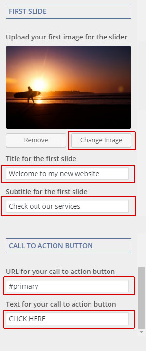 change slider image