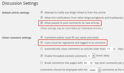 global comments setting