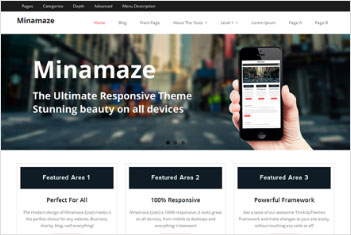 minamaze website theme