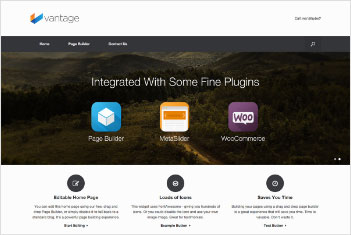 vantage website theme