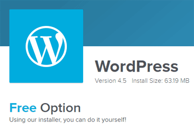 Quick install website on wordpress